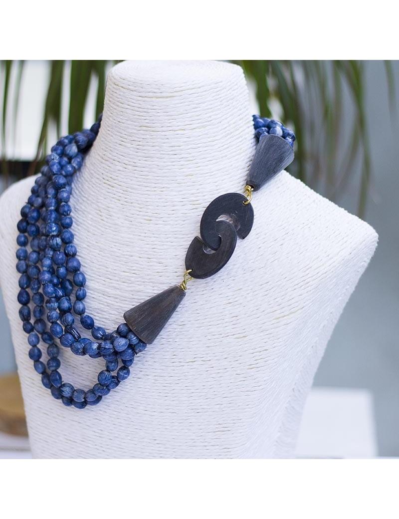 Pochette de soirée entièrement brodée de perles-by Ayizana-RJEJ00604
