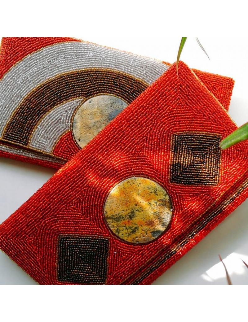 Pochette en perles Ayizana made in Haiti fait main