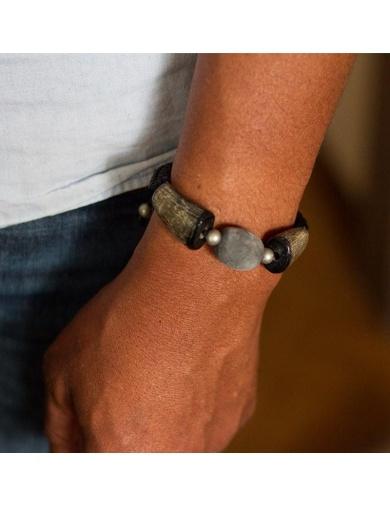 Bracelet Homme BAWON en macramé -Handmade in Haiti-by ayizana - haiti