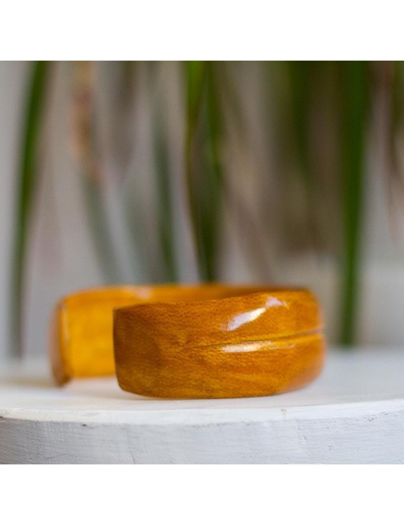 Bracelet manchette cuir-by ayizana - haiti