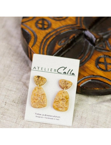 Boucles d'oreilles GILI en corne - Handmade in Haiti-by ayizana - haiti