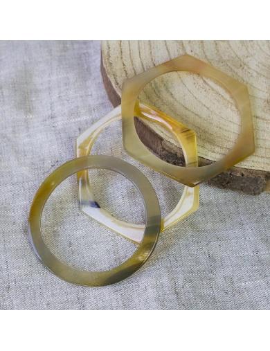 Bracelets joncs en corne X 3  - Handmade in Haiti-by ayizana - haiti