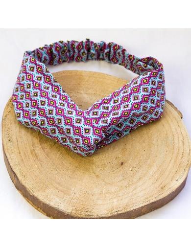 Headband imprimé graphique -fait main-by ayizana - haiti