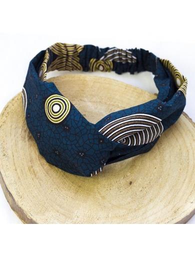 Headband tissu Wax-fait main-by ayizana - haiti