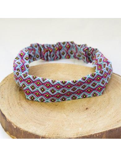 Headband simple imprimé graphique -fait main-by ayizana - haiti
