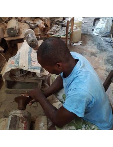 Boucles d'oreilles Anacaona en corne - Handmade in Haiti-by ayizana - haiti
