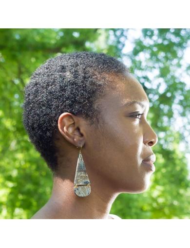 Boucles d'oreilles fabriquées en Haïti-commerce équitable- boutique solidaire