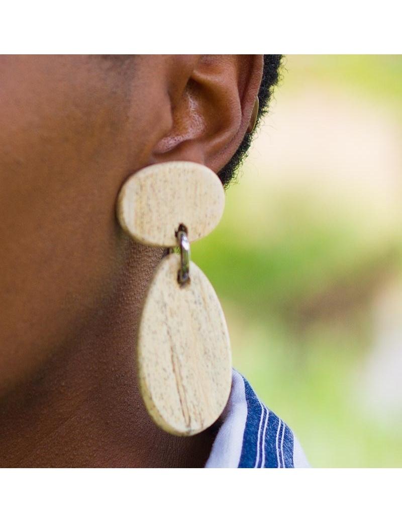 Boucles d'oreilles en bois d'Ayous